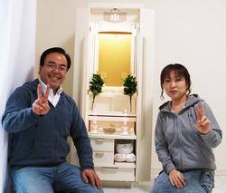 創価家具調仏壇ホワイト系