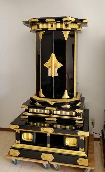 創価中古仏壇700 漆本金箔