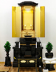創価学会 黒塗り 中古仏壇 746:使用1年未満・きれいです