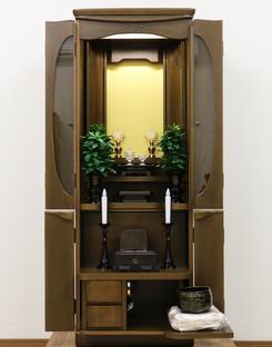 おしゃれなガラス入り家具調中古仏壇771発売いたします!