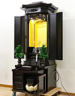 創価学会 厨子型 中古仏壇 791 金剛堂【特装御本尊様ご安置可能です】