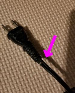 電源プラグの破損