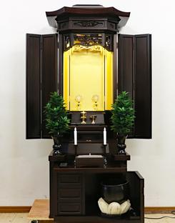 創価学会 厨子型 中古仏壇 864  大人気の金剛堂 21号黒檀厨子発売しました!
