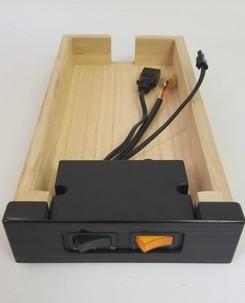 自動開閉のスイッチで経机の引き出し部分に装着している場合、スイッチ・自動開閉の故障は引き出し事送って頂きます
