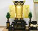 創価学会 厨子型黒塗り金塗装の経机付き 中古仏壇 875発売しました!
