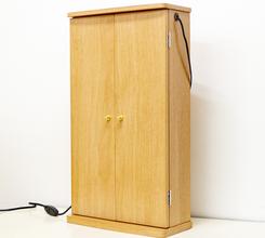 コンパクトミニ仏壇「グラン」に待望のLED照明が付いた新商品「エルグラン」特装御本尊様をご安置できるミニ仏壇
