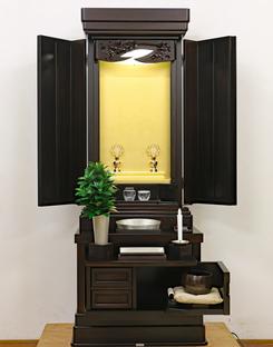 創価学会 厨子型 中古仏壇 918 15号黒檀正三方の問い合わせがあり土曜日来店予定になりました。