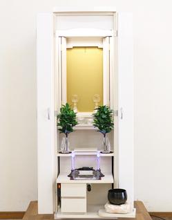 創価学会 家具調仏壇 「アルバ」 ホワイト:下取り仏壇からのご注文