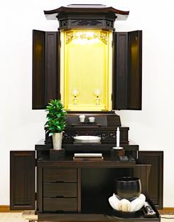 創価学会 厨子型 中古仏壇 967 3尺黒檀六角収納式:発売しました!
