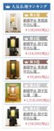 桜梅桃李.comの毎日変わる「人気仏壇ランキング5」今まで過去7日間単位で行ってきましたが、本日より3日単位にします。