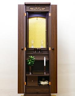 創価学会 家具調仏壇 「ニュースマイル」 手動 4枚扉 ダーク:無事届いた御礼メール頂きました。