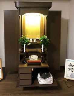 北海道から購入いただきましたお客様より仏壇の設置画像を送ってきて頂けました