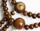 創価学会 念珠 縞栴檀 八葉マーク付 尺(約33cm):送料の違い