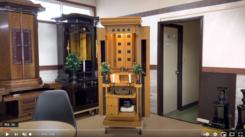 創価仏壇を見に来たいと電話いただき!:午前11頃ご夫婦でご来店いただき、家具調仏壇を見ていただき速攻で購入いただきました。