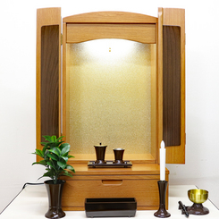 創価学会 コンパクトミニ仏壇 「ニューアーチ」:桜梅桃李ショールーム展示:東京のお客様よりご注文頂きました
