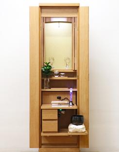 創価学会 家具調仏壇 「イクシア」 ライトオーク 手動:台付き:東京のお客様よりご注文頂きました